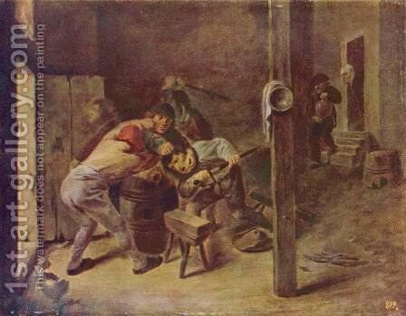 The brawl by Adriaen Brouwer - Reproduction Oil Painting