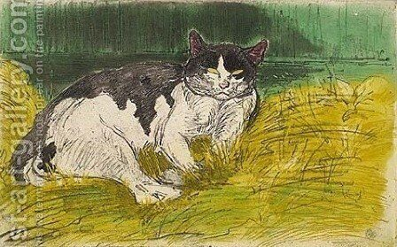Old Cat by Theophile Alexandre Steinlen - Reproduction Oil Painting
