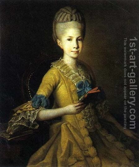 Catherine Mordvinova by Carl-Ludwig Christinek - Reproduction Oil Painting