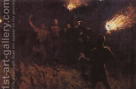 Taking Christ into custody by Ilya Efimovich Efimovich Repin - Reproduction Oil Painting