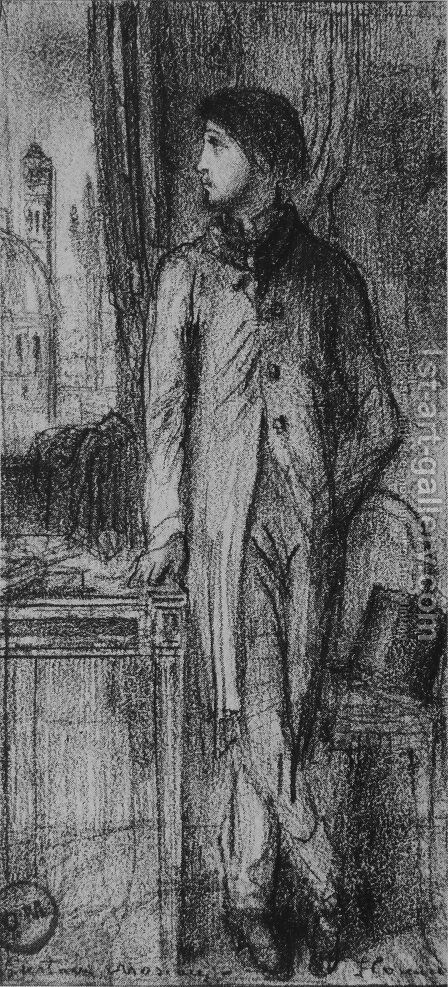 Portrait of Degas in Florence by Gustave Moreau - Reproduction Oil Painting