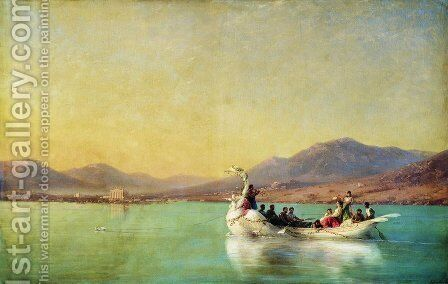 The wedding of the poet in ancient Greece by Ivan Konstantinovich Aivazovsky - Reproduction Oil Painting
