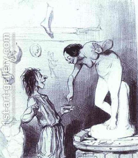 Pygmalion by Honoré Daumier - Reproduction Oil Painting
