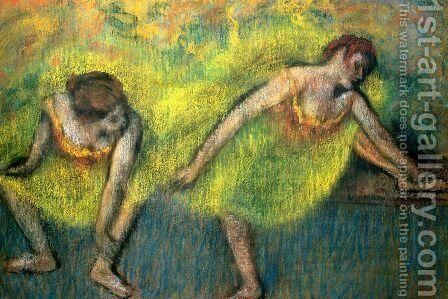 Two Dancers at Rest by Edgar Degas - Reproduction Oil Painting