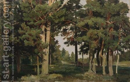 Forest 12 by Ivan Shishkin - Reproduction Oil Painting