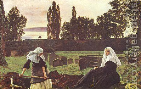 The Vale Of Rest by Sir John Everett Millais - Reproduction Oil Painting