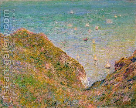 View from the Cliff at Pourville, Bright Weather by Claude Oscar Monet - Reproduction Oil Painting