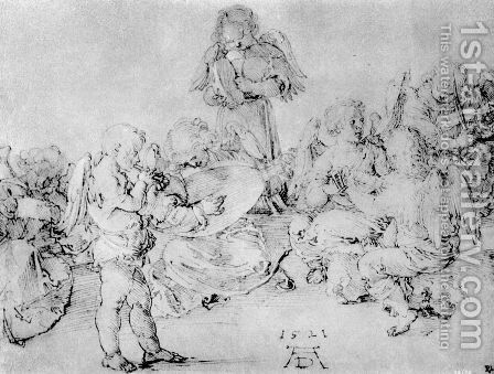 Studies on a great picture of Mary   Angel playing by Albrecht Durer - Reproduction Oil Painting