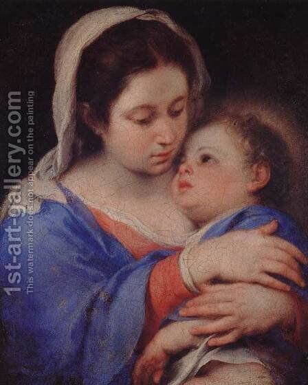 Virgin and Child 2 by Bartolome Esteban Murillo - Reproduction Oil Painting