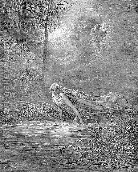 Submersion in Lethe by Gustave Dore - Reproduction Oil Painting