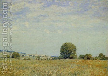 Fields at Saint Cloud by Alfred Sisley - Reproduction Oil Painting