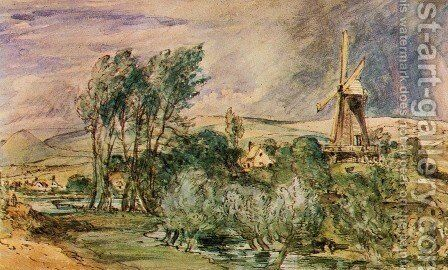 Foord Rd Mill, Folkestone by John Constable - Reproduction Oil Painting
