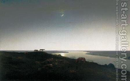 Night by Arkhip Ivanovich Kuindzhi - Reproduction Oil Painting