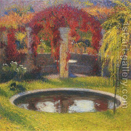 Fountain in Marquayrol 2 by Henri Martin - Reproduction Oil Painting