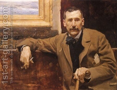Benito Perez Galdos by Joaquin Sorolla y Bastida - Reproduction Oil Painting