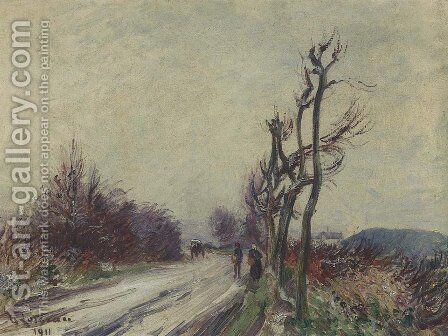 Village Road in Autumn by Gustave Loiseau - Reproduction Oil Painting
