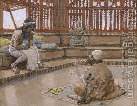 Joseph Converses With Judah, His Brother by James Jacques Joseph Tissot - Reproduction Oil Painting
