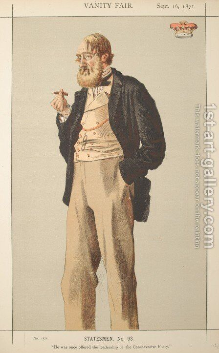 Statesmen No.930 Caricature of The Duke of Rutland by James Jacques Joseph Tissot - Reproduction Oil Painting