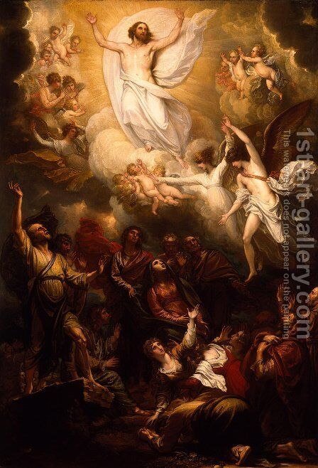 The Ascension by Benjamin West - Reproduction Oil Painting