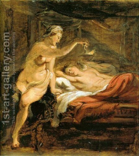 Amor and Psyche by Rubens - Reproduction Oil Painting