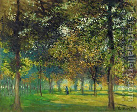 The Allee du Champ de Foire at Argenteuil by Claude Oscar Monet - Reproduction Oil Painting