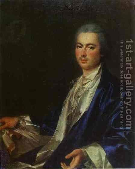 Portrait of an Unknown Man from Saltykov Family by Dmitry Levitsky - Reproduction Oil Painting
