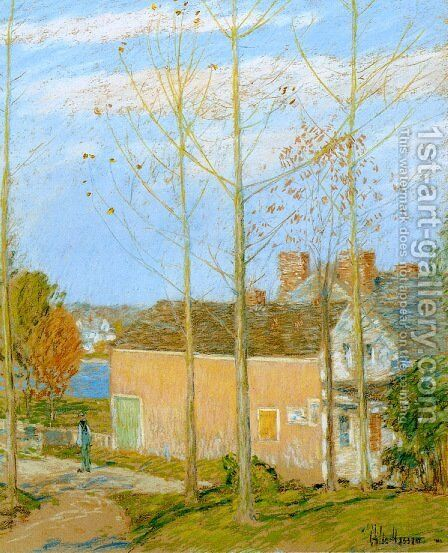 The Barn, Cos Cob 2 by Frederick Childe Hassam - Reproduction Oil Painting