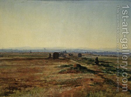 Via Appia at Sunset by Alexander Ivanov - Reproduction Oil Painting