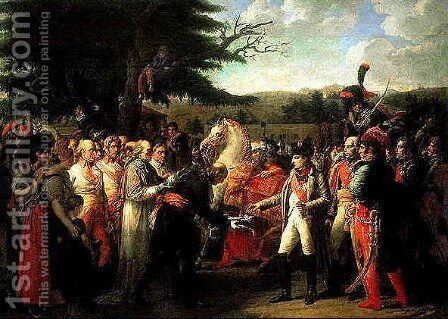 Napoleon receives the keys of Vienna by Jean Auguste Dominique Ingres - Reproduction Oil Painting