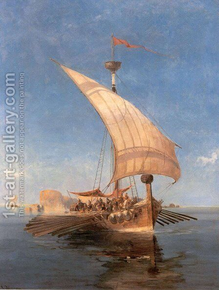 Argo by Constantinos Volanakis - Reproduction Oil Painting