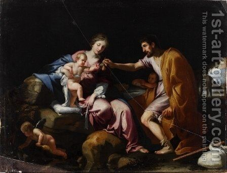 The Rest on the Flight into Egypt by Jacques Stella - Reproduction Oil Painting