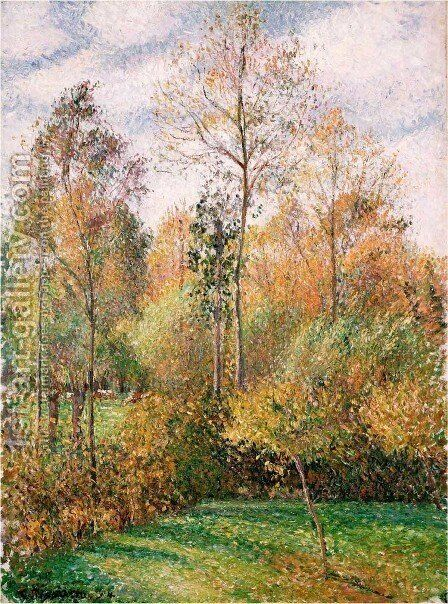Autumn, Poplars by Camille Pissarro - Reproduction Oil Painting