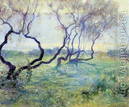 Tamarisk Trees in Early Sunlight by Guy Rose - Reproduction Oil Painting
