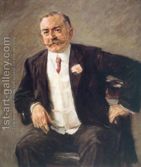 Carl Duisberg by Max Liebermann - Reproduction Oil Painting