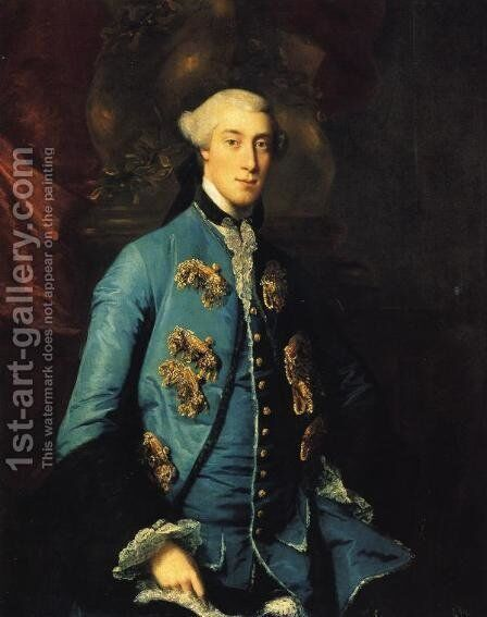 Francis Hastings, Earl of Huntingdon by Sir Joshua Reynolds - Reproduction Oil Painting