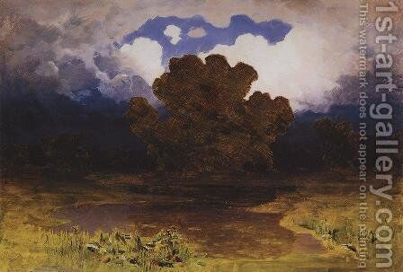 Forest Lake. Cloud by Arkhip Ivanovich Kuindzhi - Reproduction Oil Painting