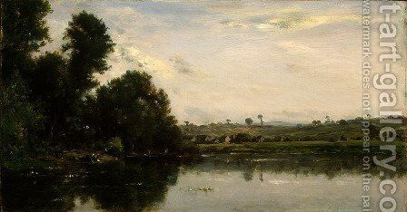 Washerwomen at the Oise River near Valmondois by Charles-Francois Daubigny - Reproduction Oil Painting