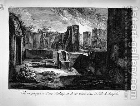 Perspective view of Thermopolium by Giovanni Battista Piranesi - Reproduction Oil Painting