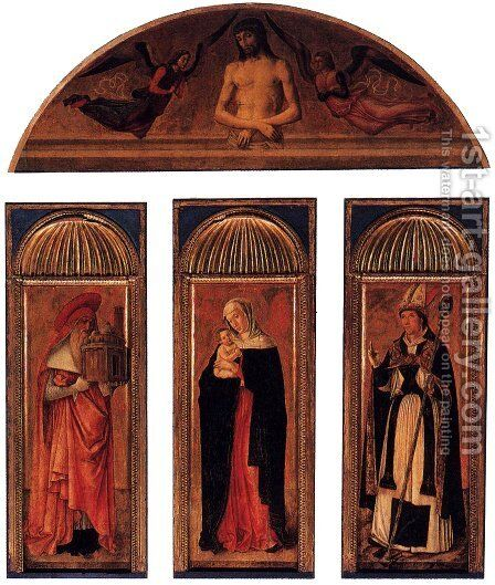 Triptych of the Virgin by Giovanni Bellini - Reproduction Oil Painting