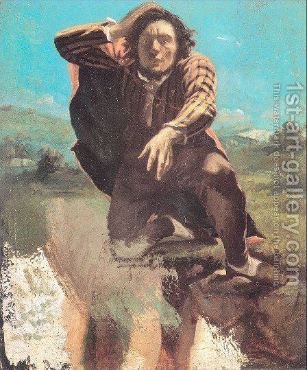The Man Made Mad by Fear by Gustave Courbet - Reproduction Oil Painting