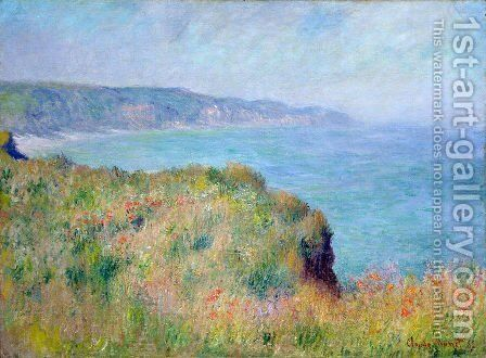 Cliff near Pourville by Claude Oscar Monet - Reproduction Oil Painting