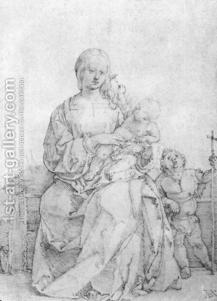 Madonna and Child with John the Baptist by Albrecht Durer - Reproduction Oil Painting