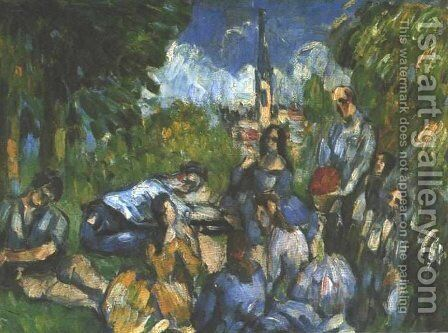 A Lunch on the Grass by Paul Cezanne - Reproduction Oil Painting