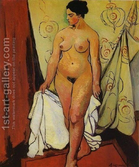 Nude Woman with Drapery by Suzanne Valadon - Reproduction Oil Painting