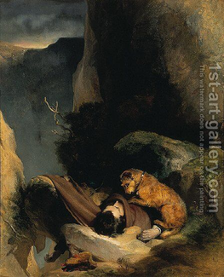 Attachment by Sir Edwin Henry Landseer - Reproduction Oil Painting