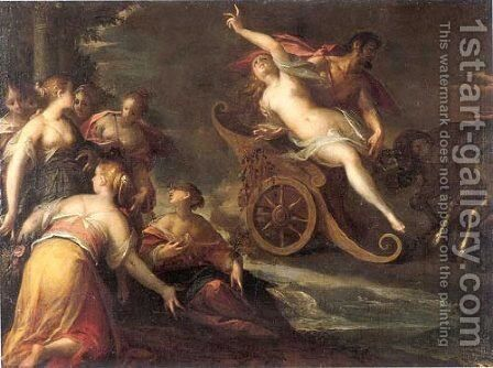 The rape of Proserpine by Hans Von Aachen - Reproduction Oil Painting