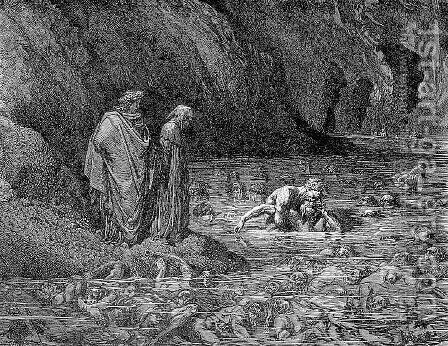Ugolino and Archbishop Ruggieri by Gustave Dore - Reproduction Oil Painting