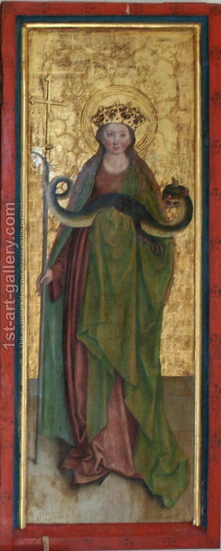 Margaret of Antioch by Bernhard Strigel - Reproduction Oil Painting