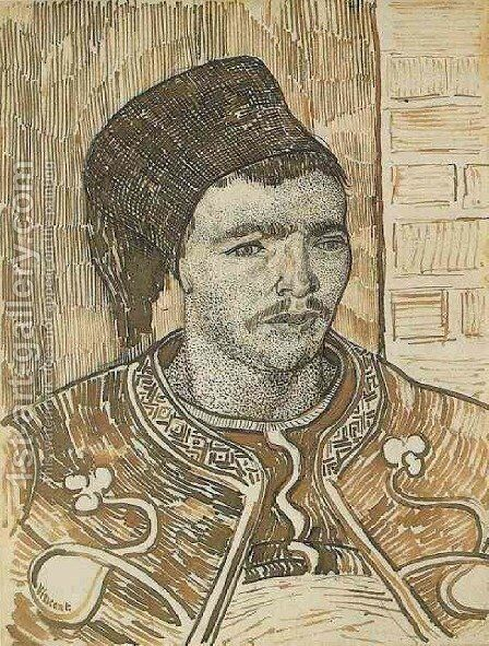 Zouave, Half-Figure by Vincent Van Gogh - Reproduction Oil Painting