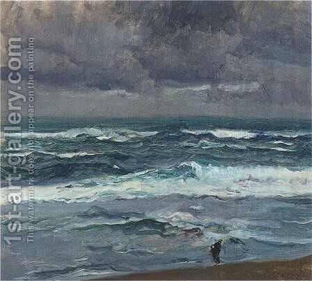 Seascape by Joaquin Sorolla y Bastida - Reproduction Oil Painting